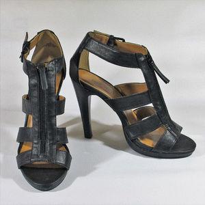 Womens Nine West Size 7 Black Heels